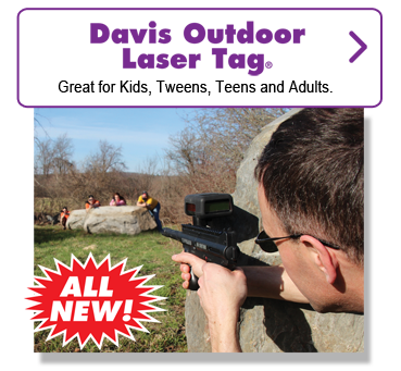 Davis Outdoor Laser Tag. Great for kids, tweens, teens and adults.